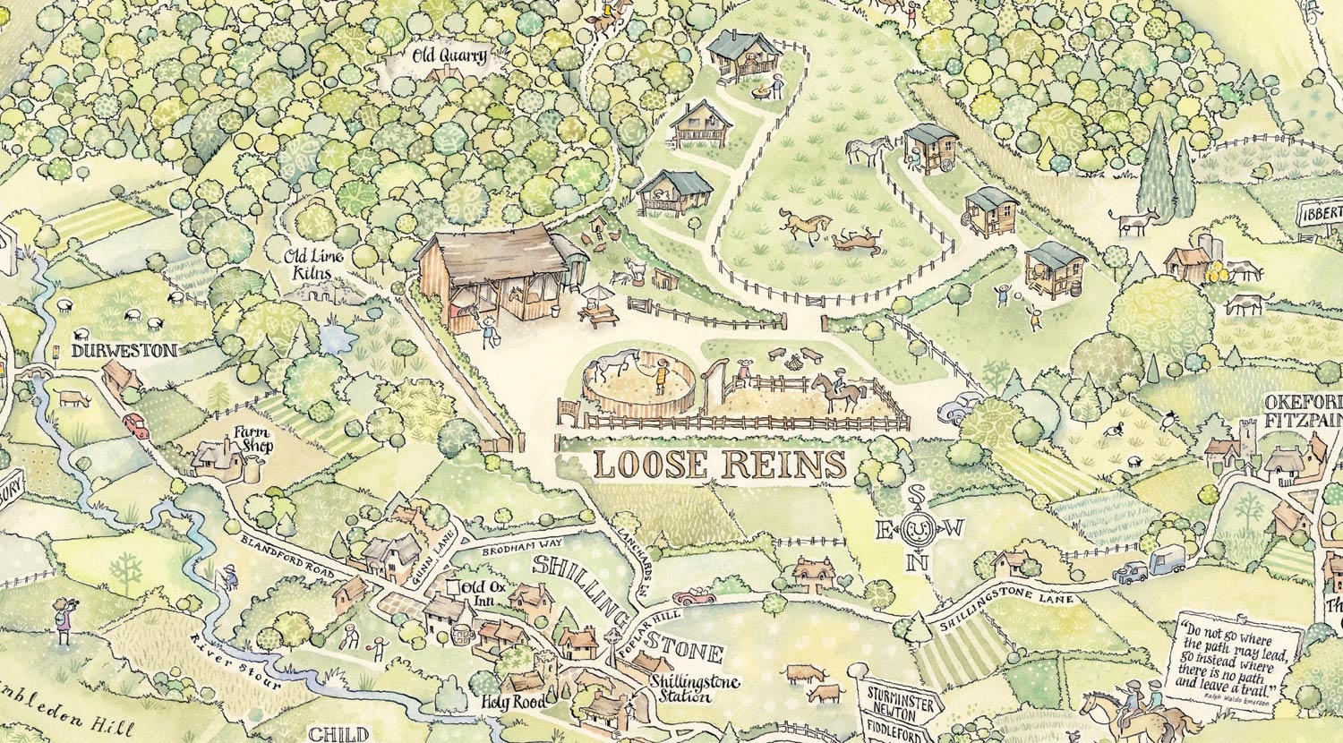 Loose Reins site map