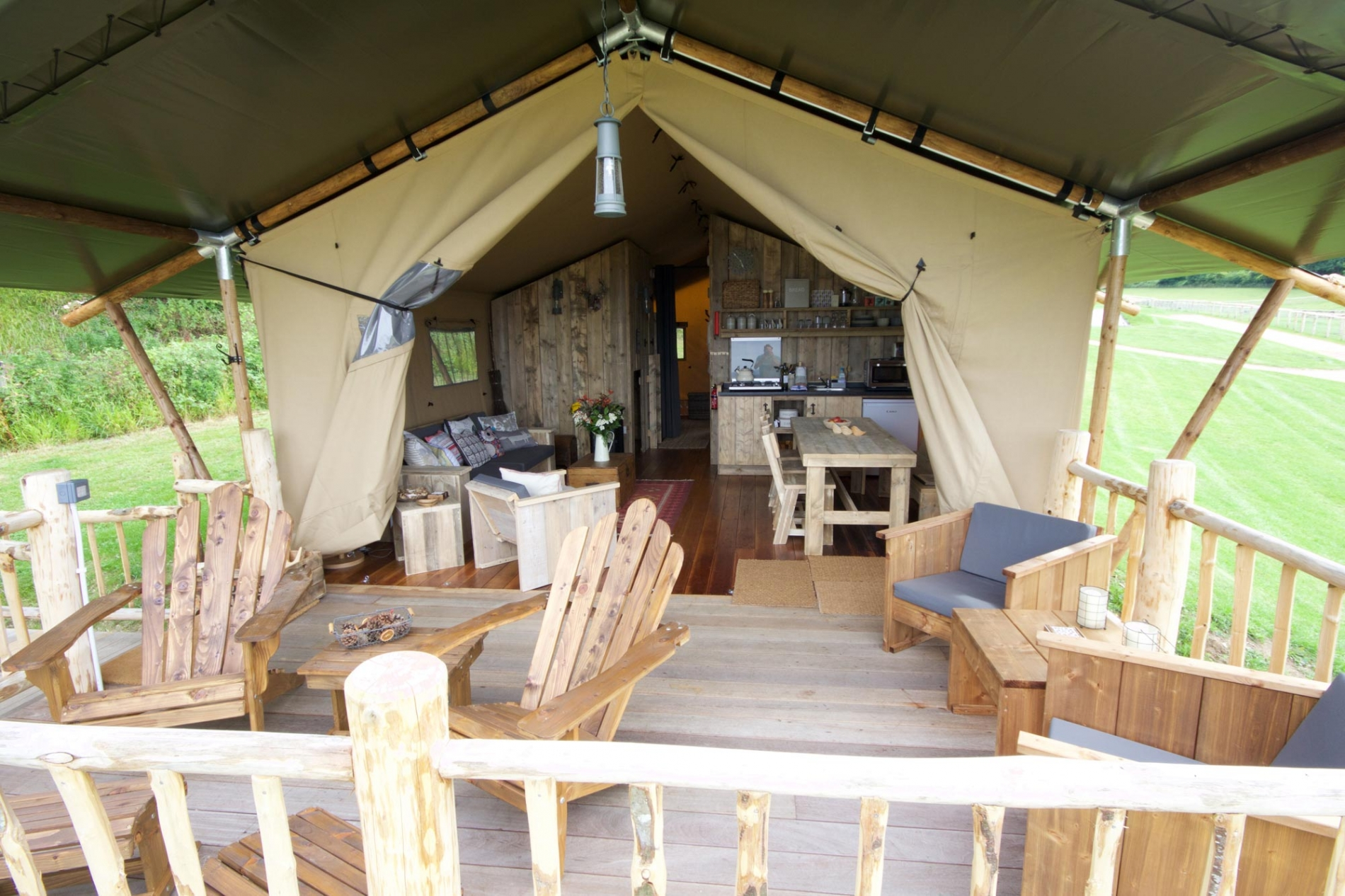 Safari Lodge Glamping Holidays in Dorset