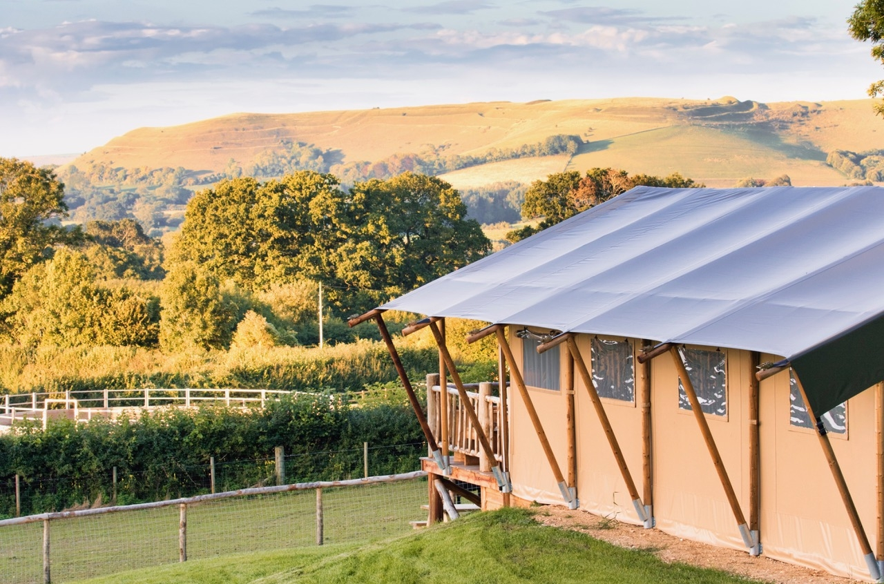glamping holiday luxurious canvas lodges in dorset special offer