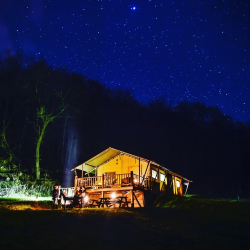Gorgeous Night Time Glamping at Loose Reins
