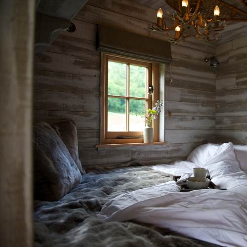 Glamping Cabins Bedrooms at Loose Reins